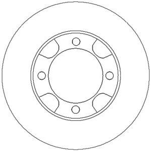 Bremseskive, for ( Mitsubishi, Colt / Lancer )