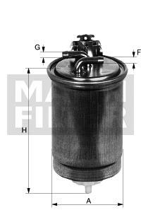 Brændstoffilter ( Audi A2 ( 8Zo ) '00 – 05′ )
